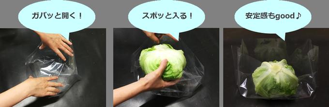 レタス袋の使い方