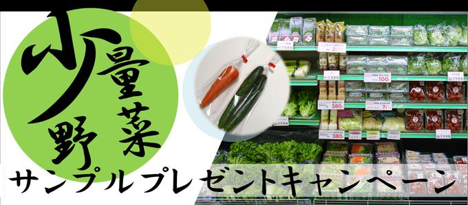 少量野菜サンプルプレゼントキャンペーン