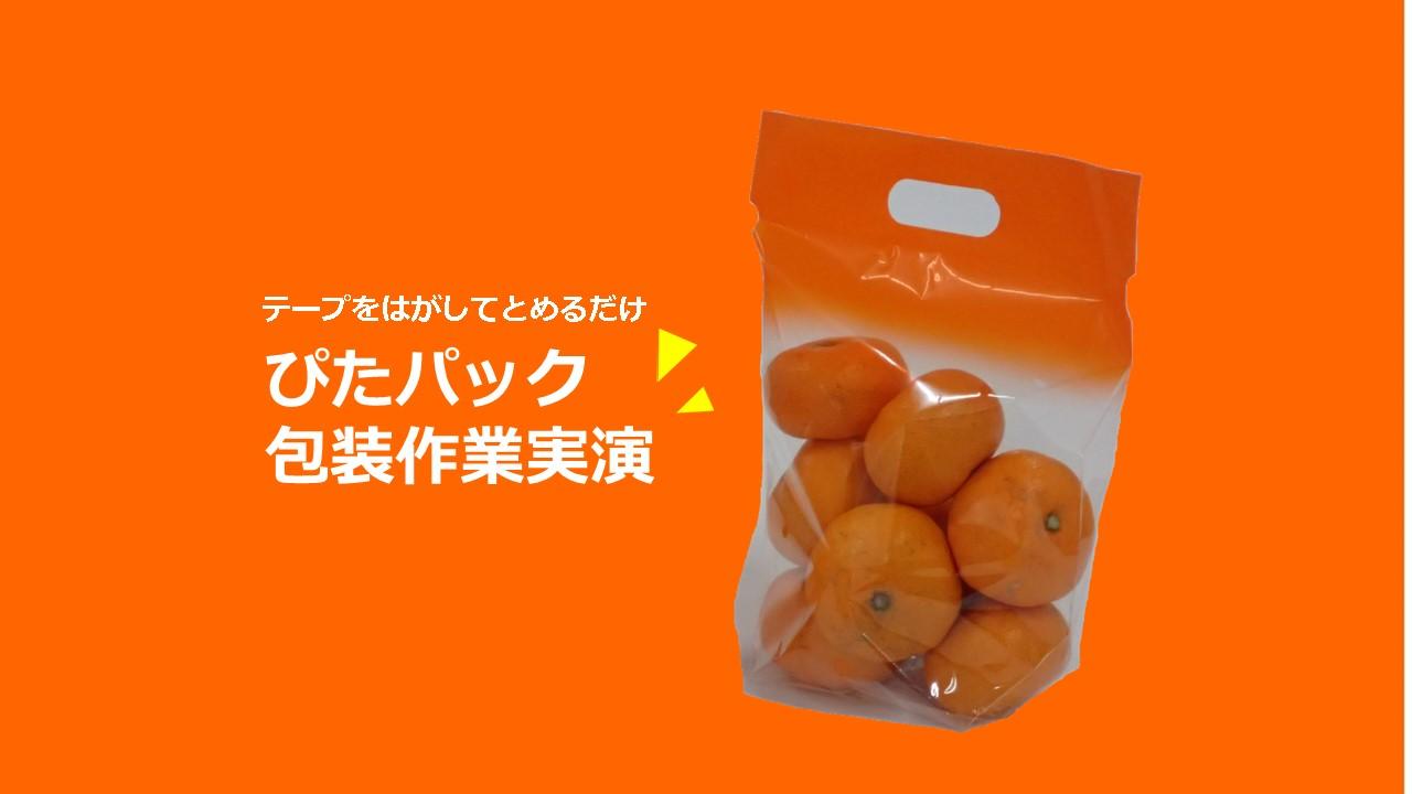 包装比較!            ぴたパック橙vsテープ留め
