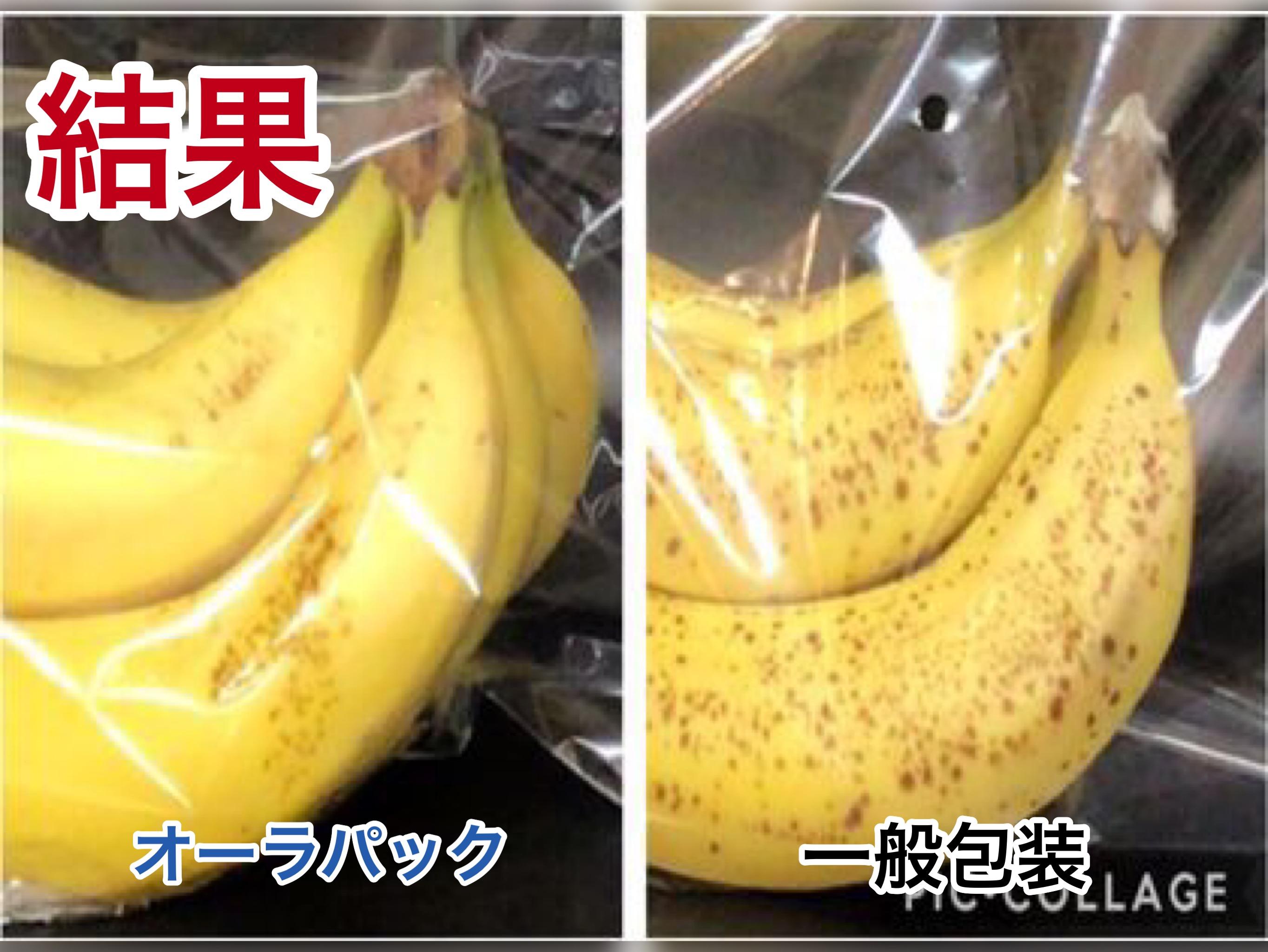オーラパック バナナ         鮮度比較