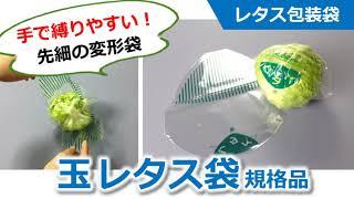 【レタス包装袋】         玉レタス袋の使い方