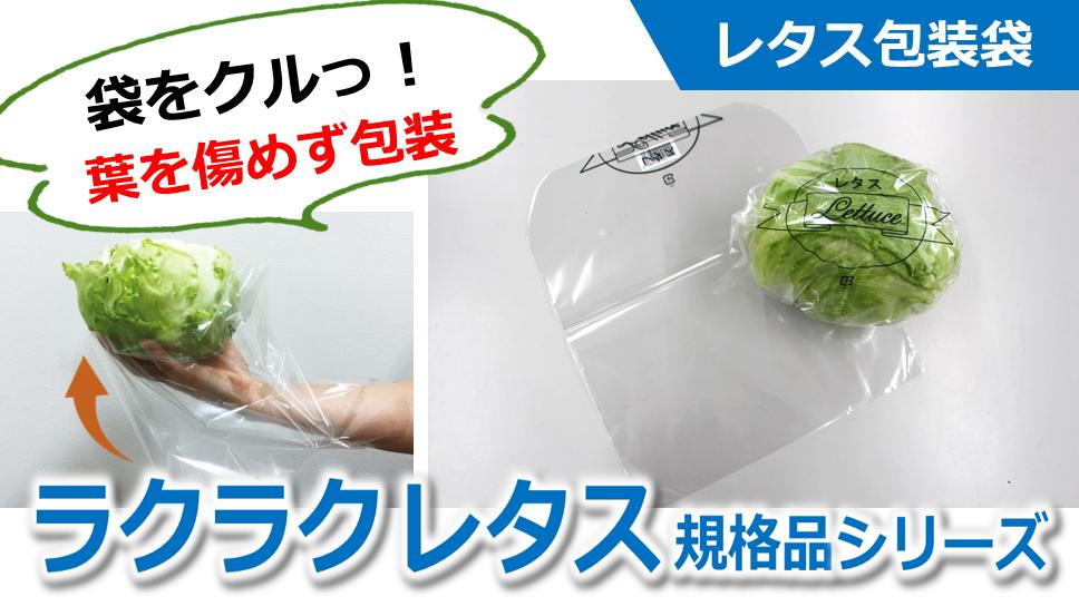 【レタス包装袋】         ラクラクレタスシリーズの使い方